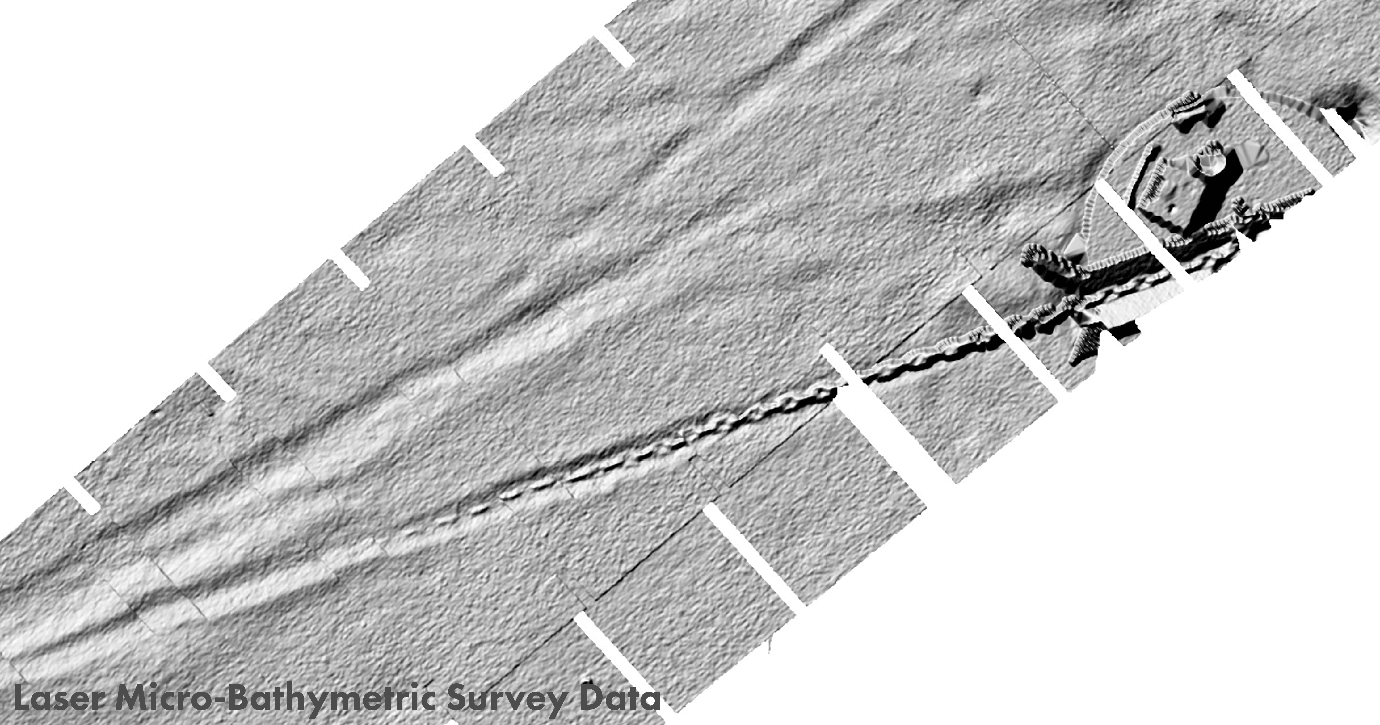 laser micro bathymetric survey data from auv-based pipeline surveying solution