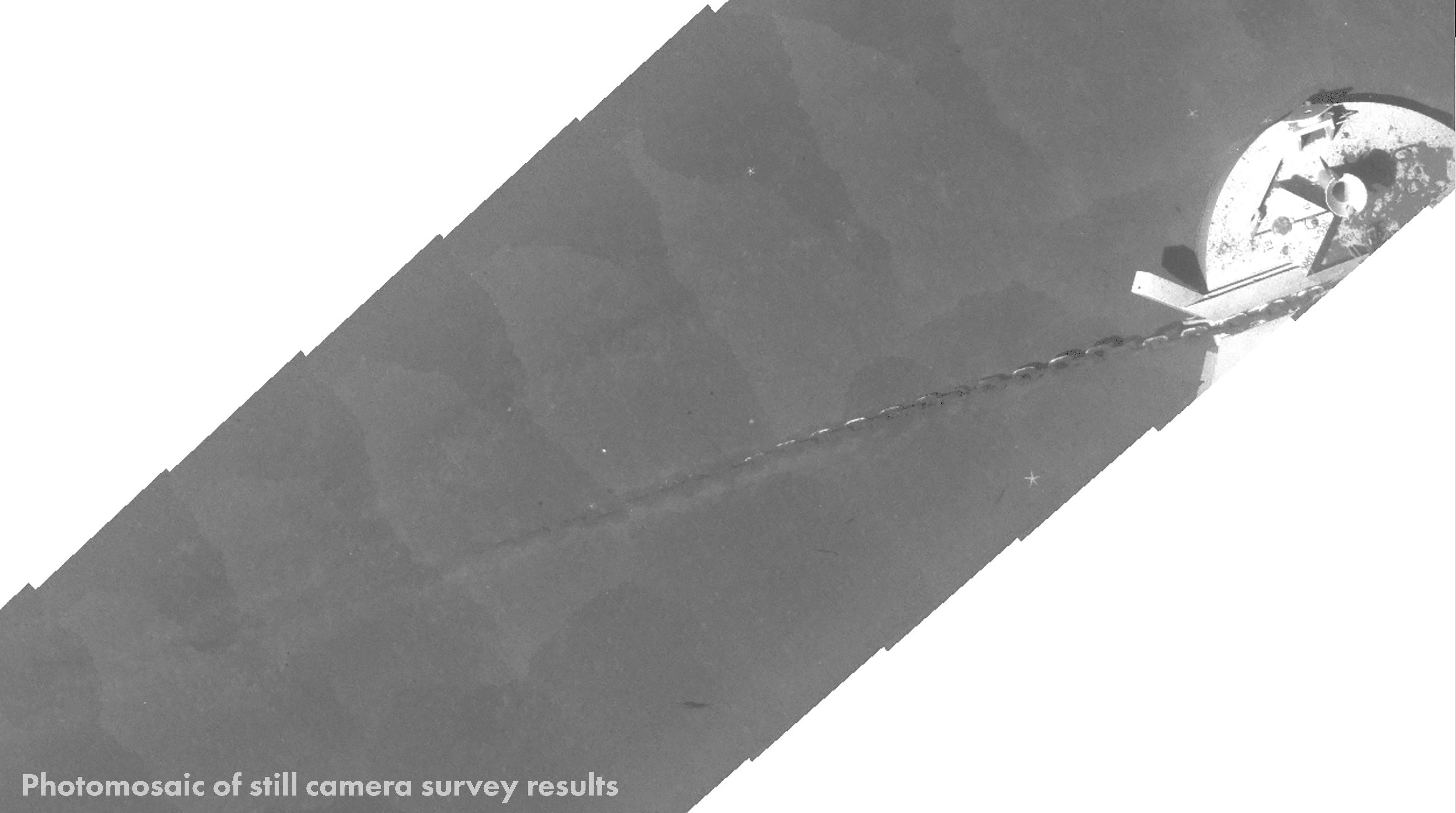 photo mosaic results from auv-based pipeline surveying solution